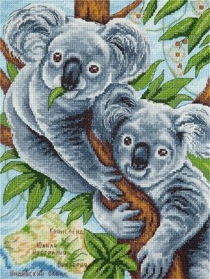 """Набор для вышивания """"PANNA"""" J-1927 ( Ж-1927 ) """"Пушистые коалы"""""""