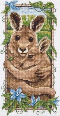 """Набор для вышивания """"PANNA"""" J-1971 ( Ж-1971 ) """"Рыжие кенгуру"""""""