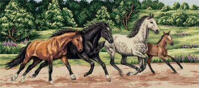 """Набор для вышивания """"PANNA"""" J-7073 """"Дикие лошади"""""""