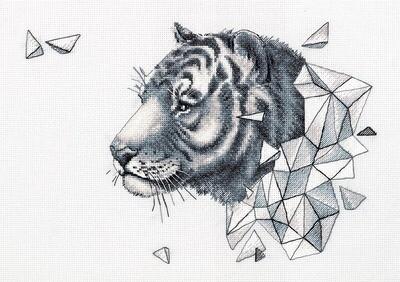 """Набор для вышивания """"PANNA"""" J-7089 """"Геометрия. Тигр"""""""