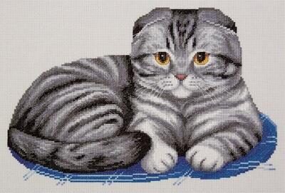 """Набор для вышивания """"PANNA"""" K-7221 """"Шотландский вислоухий кот"""""""