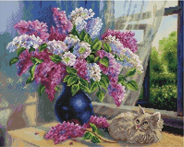 Алмазная мозаика APK 79007 Сиреневые мечты (Воробьёва Ольга) 40*50