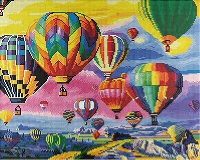 Алмазная мозаика Paintboy GF 4453 Парад воздушных шаров 40x50см