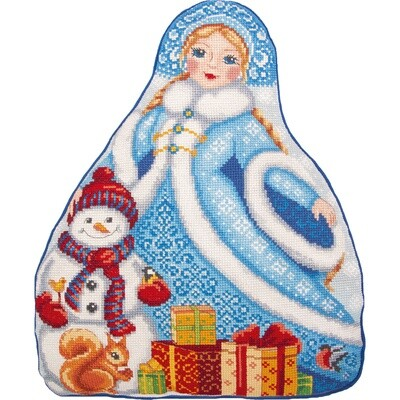 """Набор для вышивания """"PANNA"""" PD-7203 """"Подушка. Снегурочка"""""""