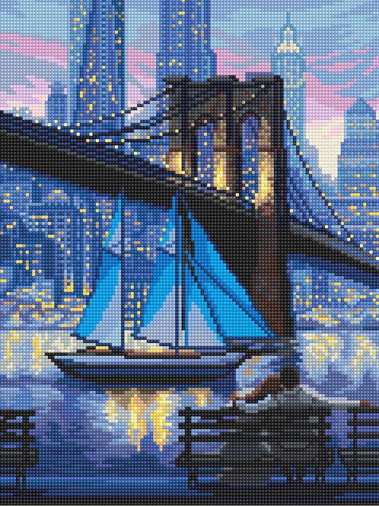 """Кристальная мозаика """"ФРЕЯ"""" ALVK-37 """"Бруклинский мост"""", 30 х 40 см"""