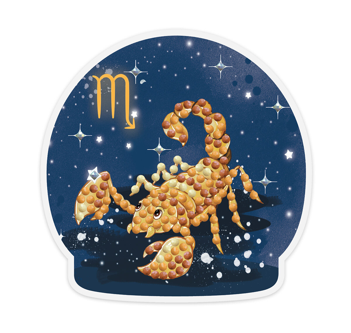 """Кристальная мозаика """"ФРЕЯ"""" ALVM-061 магнит """"Знаки зодиака. Скорпион"""""""