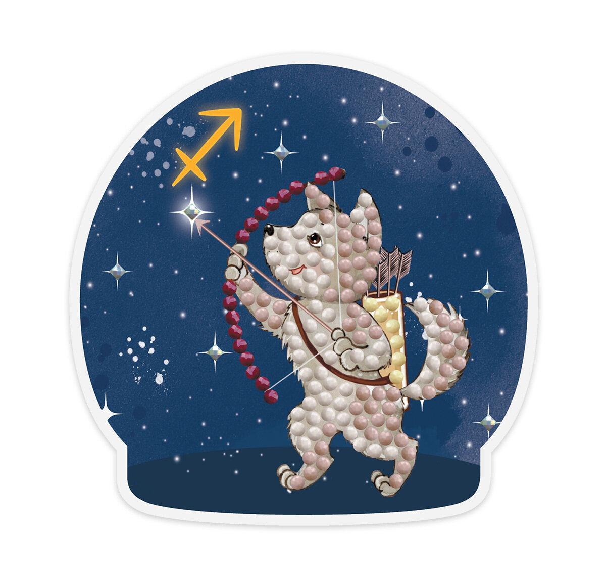 """Кристальная мозаика """"ФРЕЯ"""" ALVM-063 магнит """"Знаки зодиака. Стрелец"""""""