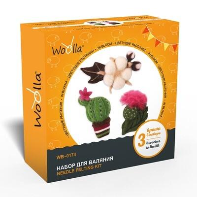 """""""Woolla"""" WB-0174 """"Цветущие растения"""" набор для валяния"""
