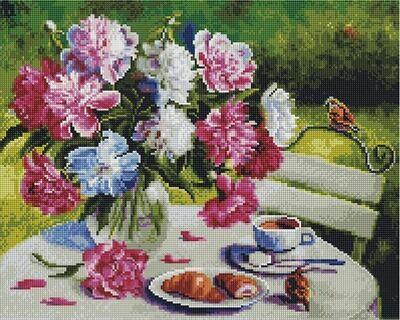 Алмазная мозаика APK 79004 Пионовое утро (Воробьёва Ольга) 40*50