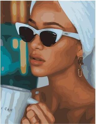 Картина по номерам Paintboy PK 11410 Утренний кофе 40х50см