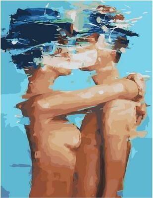 Картина по номерам Paintboy PK 11425 Влюбленные без одежды 40х50см