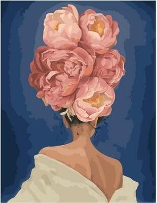 Картина по номерам Paintboy PK 11444 Девушка цветок. Изгиб 40х50см