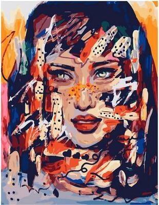 Картина по номерам Paintboy PK 11465 Яркая девушка 40х50см