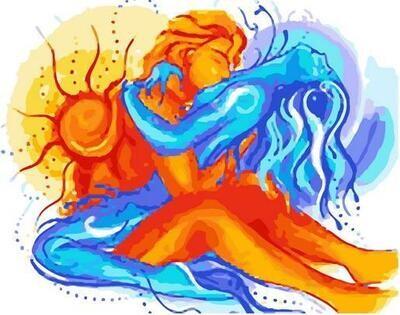 Картина по номерам Paintboy PK 11474 Любовь стихий 40х50см