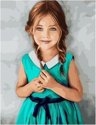 Картина по номерам Paintboy PK 11409 Изумрудное платье 40х50см