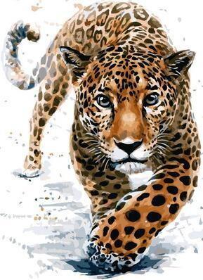 Картина по номерам Paintboy PK 11452 Поступь леопарда 40х50см