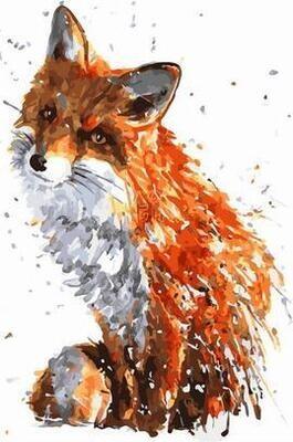 Картина по номерам Paintboy PK 11466 Хитрая лисичка 40х50см