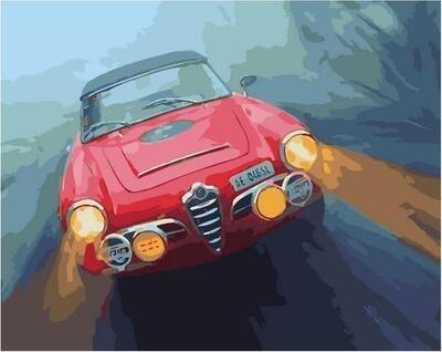 Картина по номерам Paintboy PK 11414 Поездка в тумане 40х50см