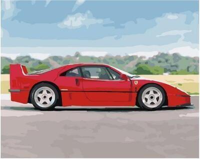 Картина по номерам Paintboy PK 11440 Красный спорткар 40х50см