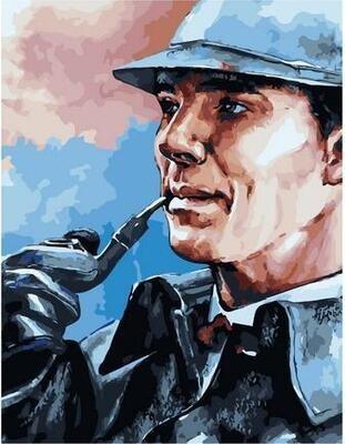 Картина по номерам Paintboy PK 11507 Шерлок с трубкой 40х50см