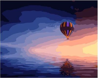 Картина по номерам Paintboy PK 11424 Воздушный шар над морем 40х50см