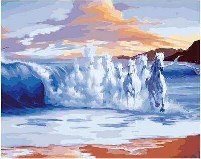 Картина по номерам Paintboy PK 11416 Скачущие волны 40х50см