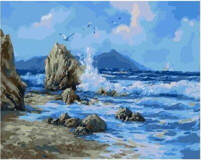 Картина по номерам Paintboy PK 11436 Ветер над морем 40х50см