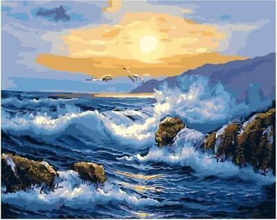Картина по номерам Paintboy PK 11412 Узор волны 40х50см