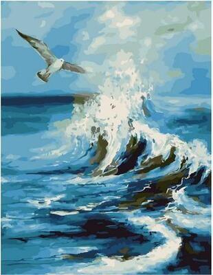 Картина по номерам Paintboy PK 11445 Чайка над волной 40х50см