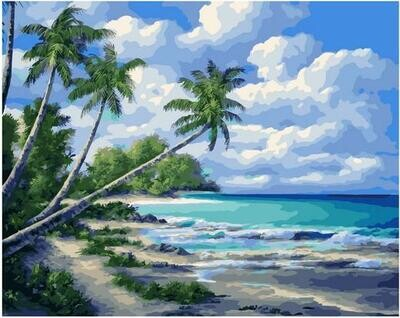 Картина по номерам Paintboy PK 11460 Тропический берег 40х50см