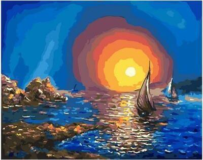 Картина по номерам Paintboy PK 11470 Красочное море 40х50см
