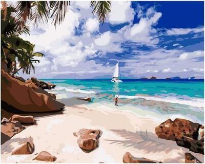 Картина по номерам GX 40165 Остров мечты 40*50