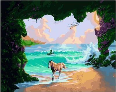 Картина по номерам Paintboy PK 11415 На другой стороне планеты 40х50см