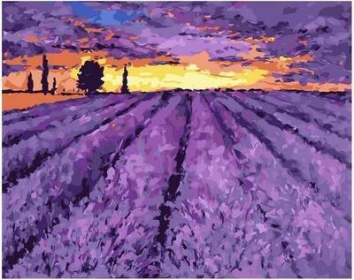Картина по номерам Paintboy PK 11430 Лавандовый закат 40х50см