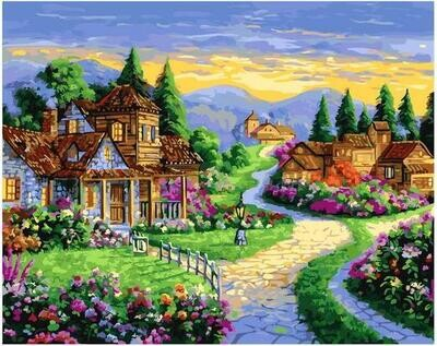 Картина по номерам GX 40310 Сказочные домики 40*50