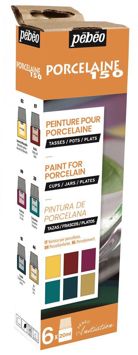 """""""PEBEO"""" Набор красок Porcelaine 150 """"Открытие"""" по фарфору и керамике под обжиг 6 цв. 20 мл, цвет 756472 №2 глянцевые"""