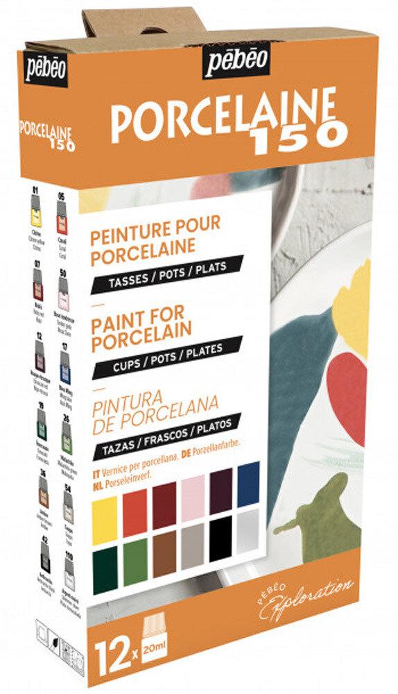 """""""PEBEO"""" Набор красок Porcelaine 150 """"Исследование"""" по фарфору и керамике под обжиг 12 цв. 20 мл, цвет 757472 глянцевые №2"""