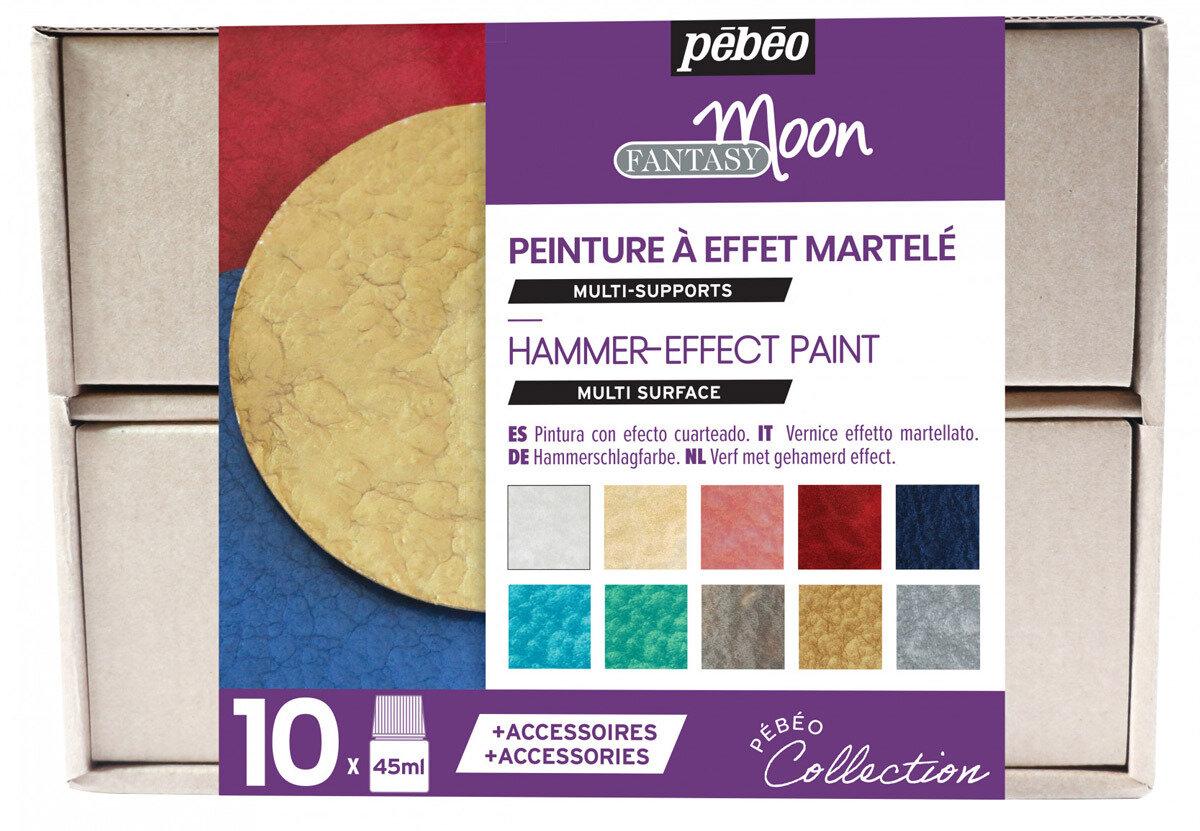 """""""PEBEO"""" Набор красок Fantasy Moon """"Коллекция"""" с фактурным эффектом с аксессуарами 10 цв. 45 мл, цвет 758441"""
