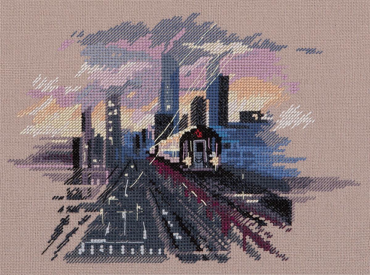 """Набор для вышивания """"PANNA"""" GM-7269 """"Метро Нью-Йорка"""""""