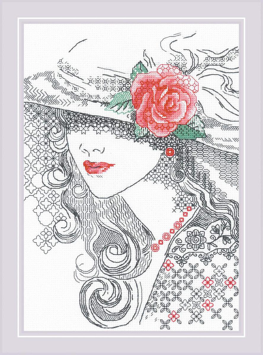 """Набор для вышивания """"RIOLIS"""" """"Сотвори Сама"""" 1887 """"Таинственная Роза"""""""