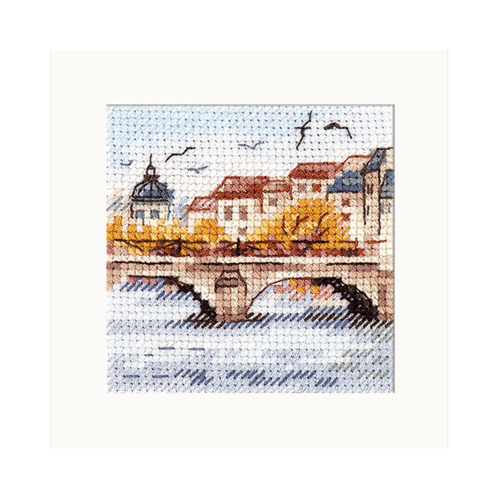 """Набор для вышивания """"Алиса"""" 0-216 """"Осень в городе. Чайки над мостом"""""""