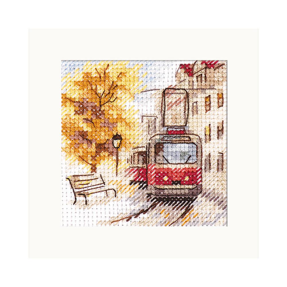 """Набор для вышивания """"Алиса"""" 0-217 """"Осень в городе. Трамвай"""""""