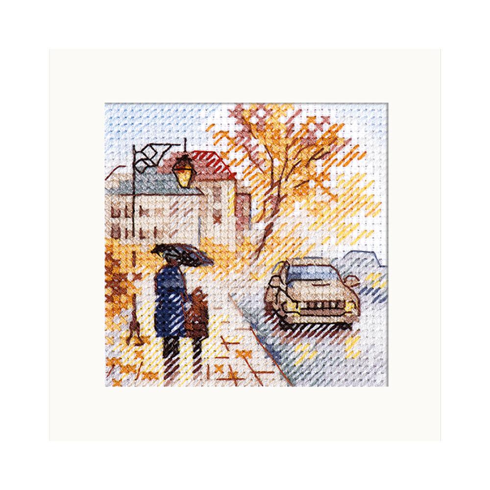 """Набор для вышивания """"Алиса"""" 0-218 """"Осень в городе. Мокрый бульвар"""""""