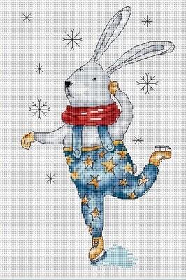 """Набор для вышивания крестиком ЧУДО-ХОЛСТ """"Скандинавский заяц"""" 15х25 см"""