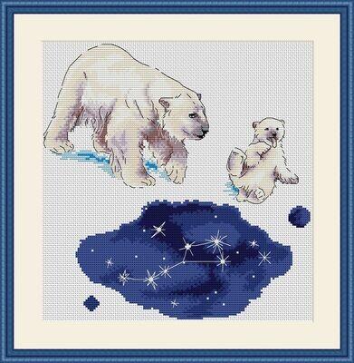 """Набор для вышивания крестиком ЧУДО-ХОЛСТ """"Большая медведица"""" 24х25 см"""