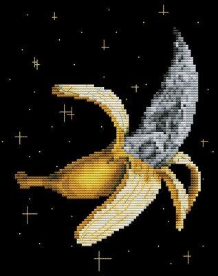 "Набор для вышивания крестиком ЧУДО-ХОЛСТ ""Космо-банан"" 16х20 см"