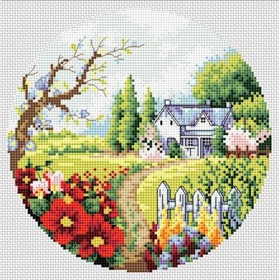 "Набор для вышивания крестиком ЧУДО-ХОЛСТ ""Весенний сад"" 19х19 см"