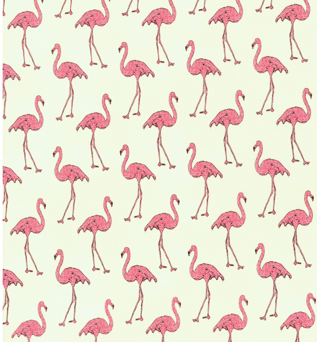 Flamingos On Cream Reusable Cloth Face Mask
