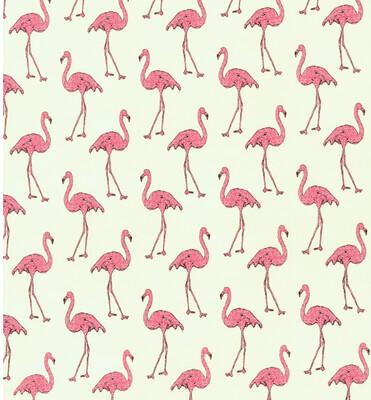 Flamingos On Cream Reusable Cloth Face Mask
