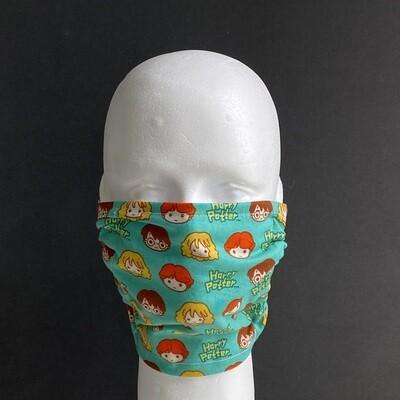 Harry Potter Green Kawaii Adjustable Reusable Cloth Face Mask